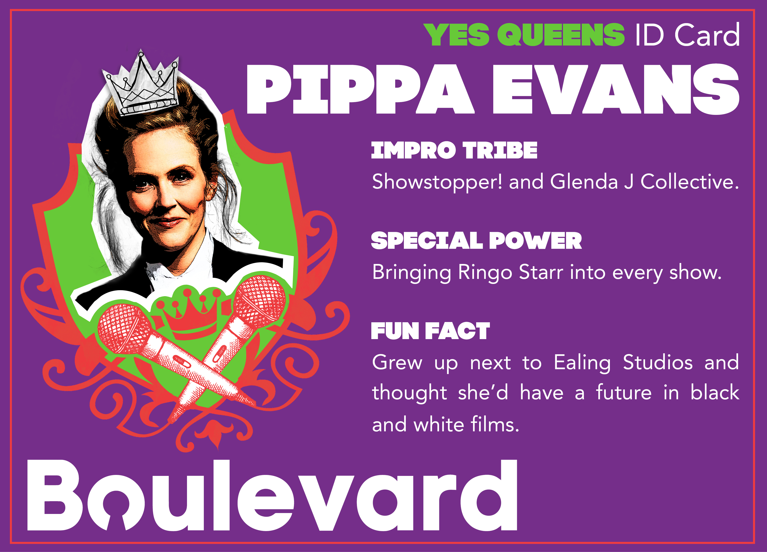 Yes Queens ID Card Pippa