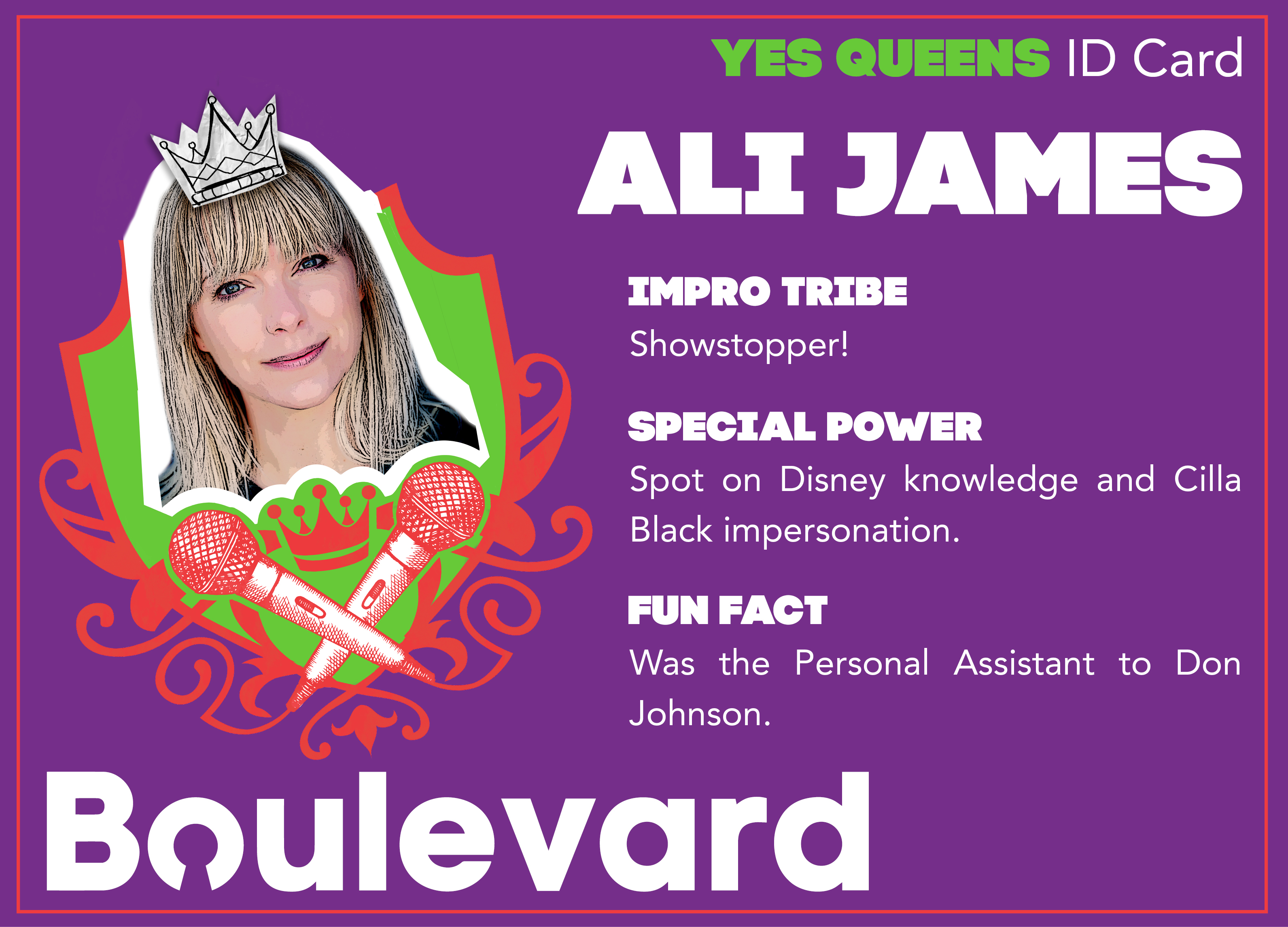 Yes Queens ID Card Ali