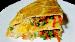 cheese and veg omelette