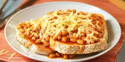 beans and cheese on toast