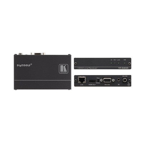 KRAMER - HDMI, Bidirectional RS-232 & IR over HDBaseT Twisted Pair Receiver