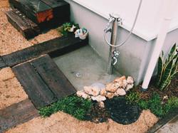 スタイリッシュな立水栓