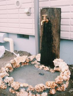 天然素材で作る立水栓