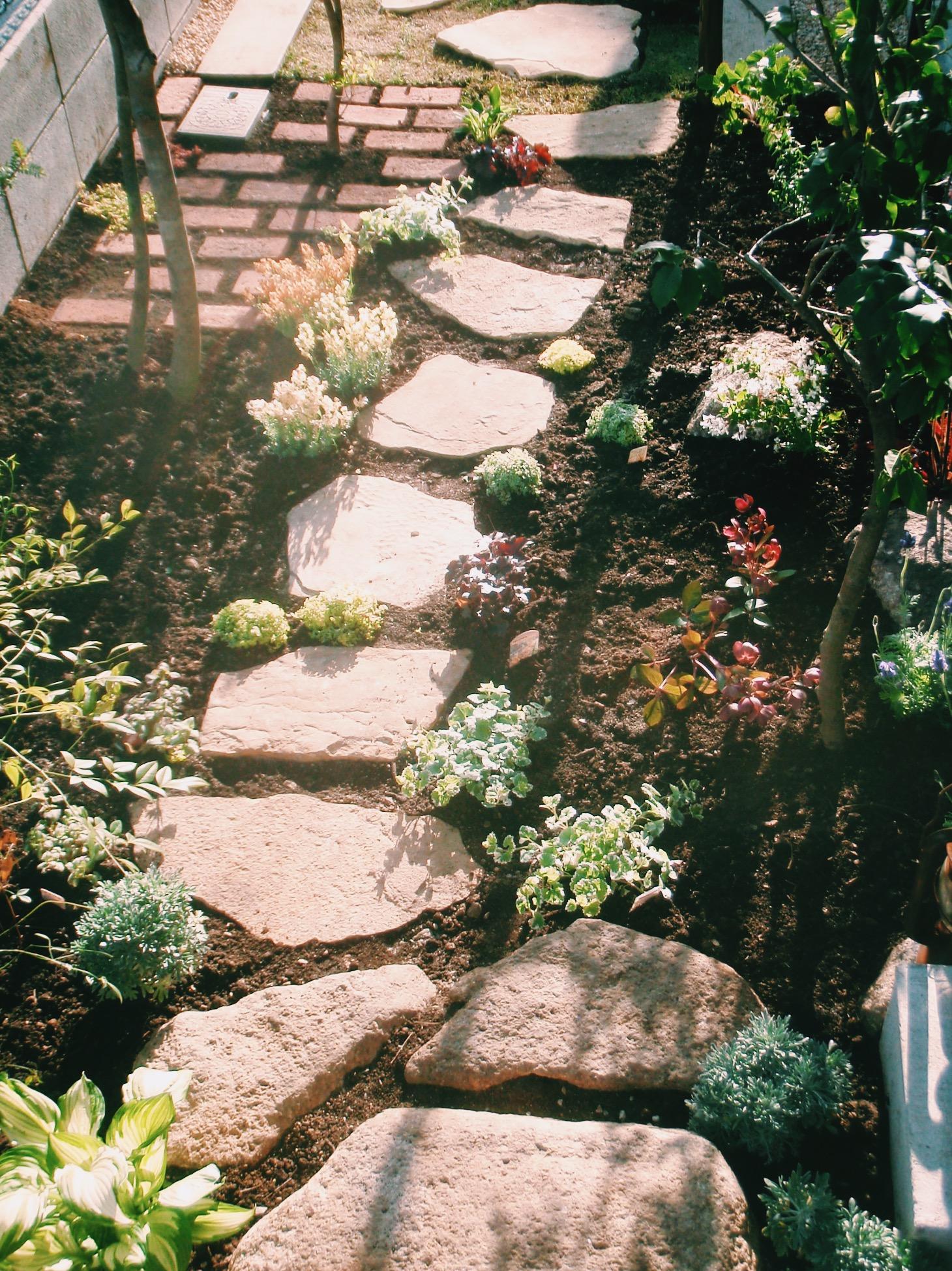 玄関へ続く石路