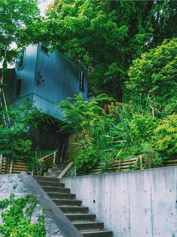 鎌倉の山と共存する家