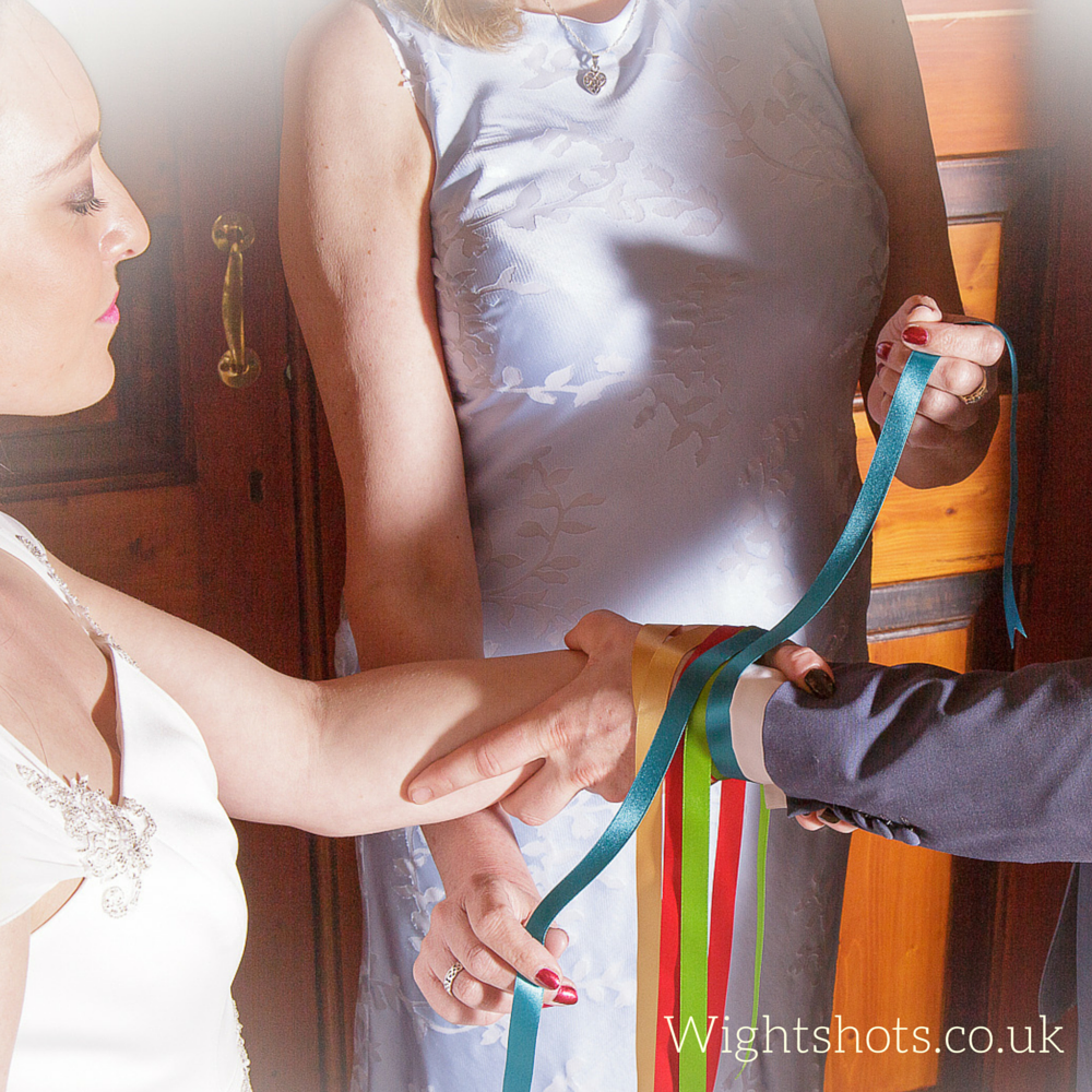 Handfasting with Ribbons