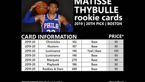 MATISSE THYBULLE ROOKIE CARDS