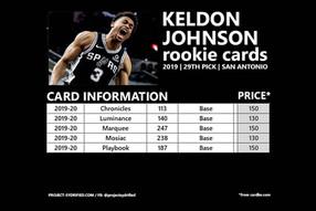 KELDON JOHNSON ROOKIE CARDS