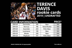 TERENCE DAVIS ROOKIE CARDS