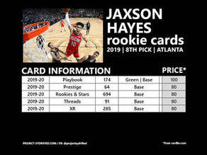 JAXSON HAYES ROOKIE CARDS