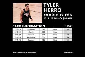 TYLER HERRO ROOKIE CARDS