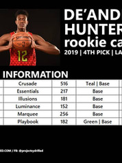 DE'ANDRE HUNTER ROOKIE CARDS