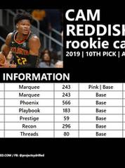 CAM REDDISH ROOKIE CARDS