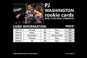 PJ WASHINGTON ROOKIE CARDS