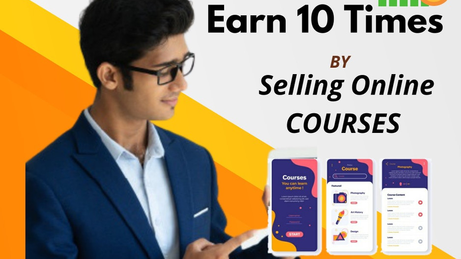 How to earn 10 times by selling online courses know what is the formula?