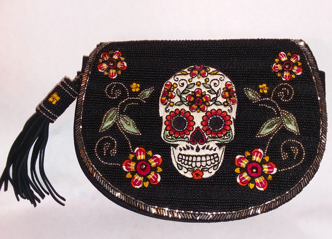 Beaded Day of the Dead Bag
