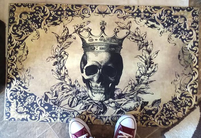 Royal Skull Door/Kitchen Mat
