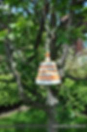 Gartendeko - Krabblhöhle am Baum