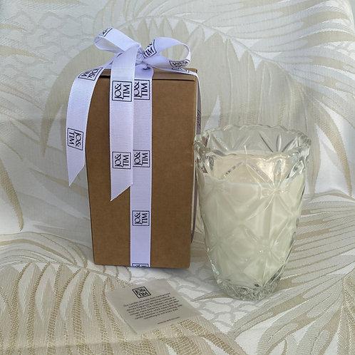 Rhea soya candle in vintage vase