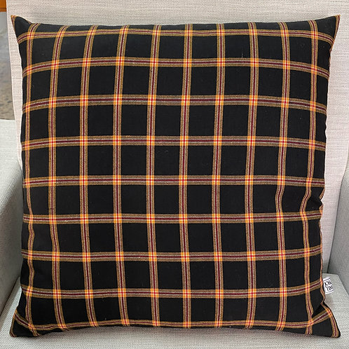 Black plaid cushion