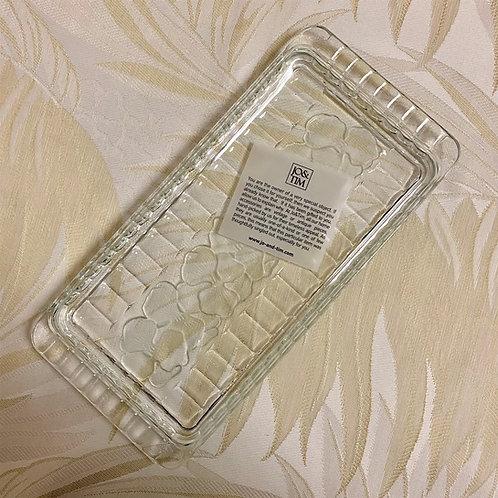 Crystal rectangular platter