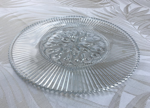 Crystal round platter