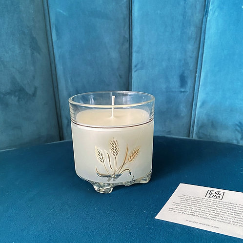 Sitari candle in vintage frosted glass