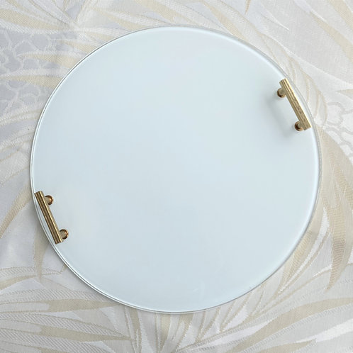 Round white platter