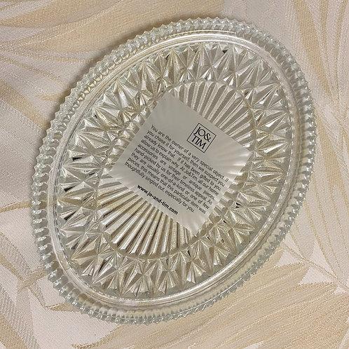 Crystal oval platter