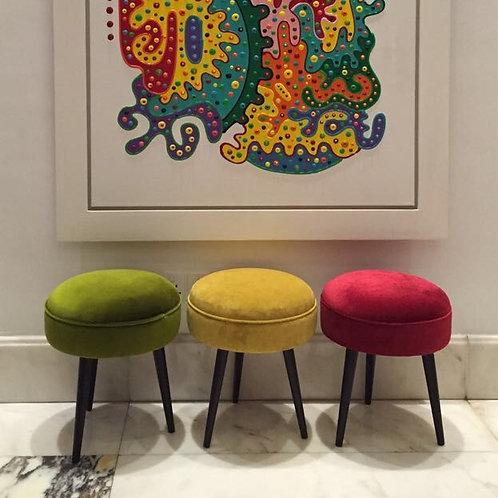 Round three-legged stool