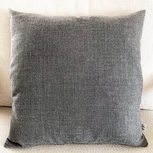 Grey cashmere cushion