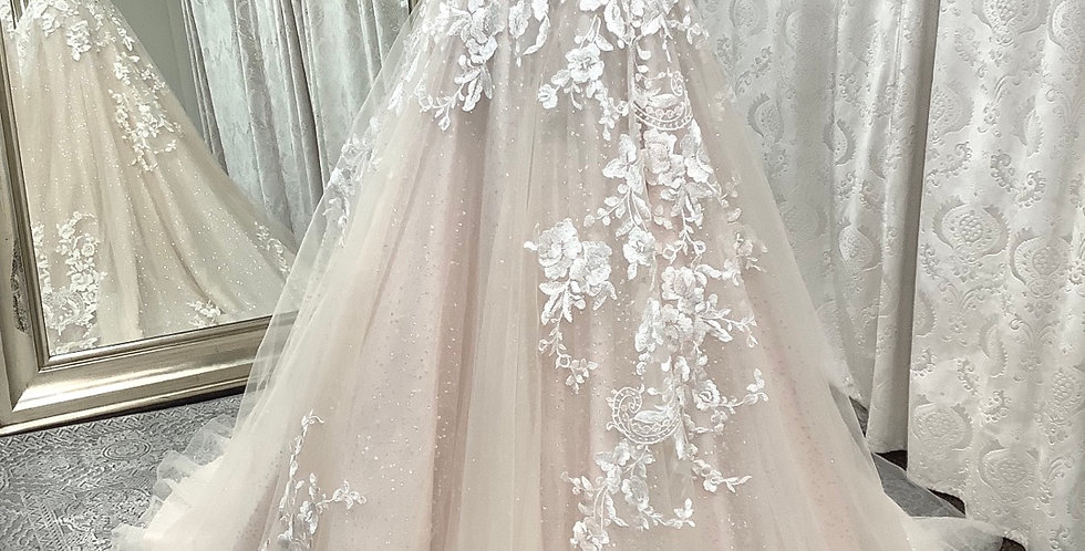 9703, Private Collection 912 size 2 ivory-blush
