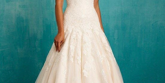 8968, Allure 9314 size 6 ivory-champagne