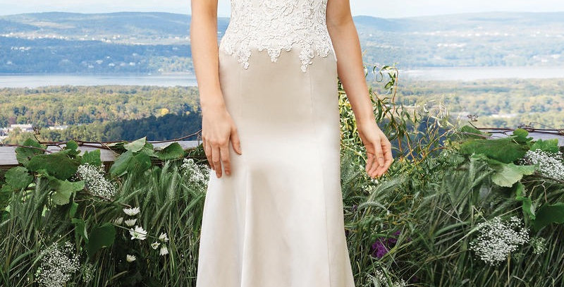 9338, Lilian West 6427 size 12 champagne-ivory