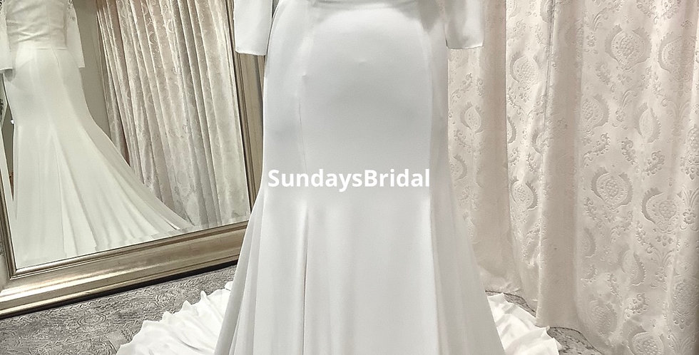 0730, Call for Pricing, SundaysBridal 5103 size 16 ivory