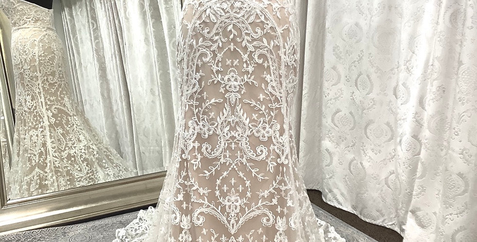 9828, Watters 7085 Nyra size 2, 6, 10 ivory-champagne