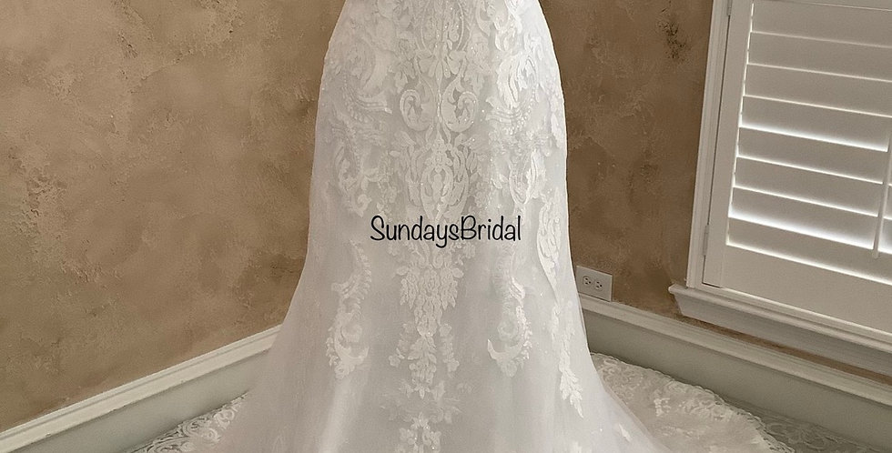 0522, Call for Pricing , SundaysBridal 0103 size 16 ivory
