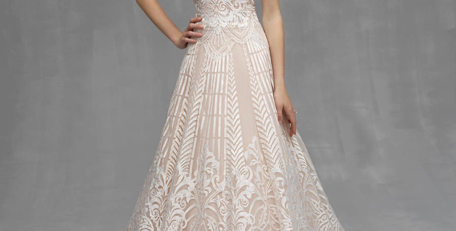 0385, Allure Couture C531 size 10 Champagne -ivory