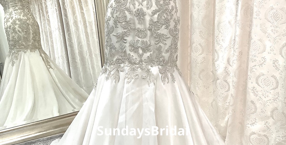 0276, Maggie Sottero 5sT634 size 10 ivory-light gold