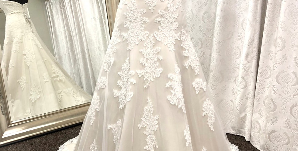 8008, House Of Wu 19037 size 4 ivory-oyster