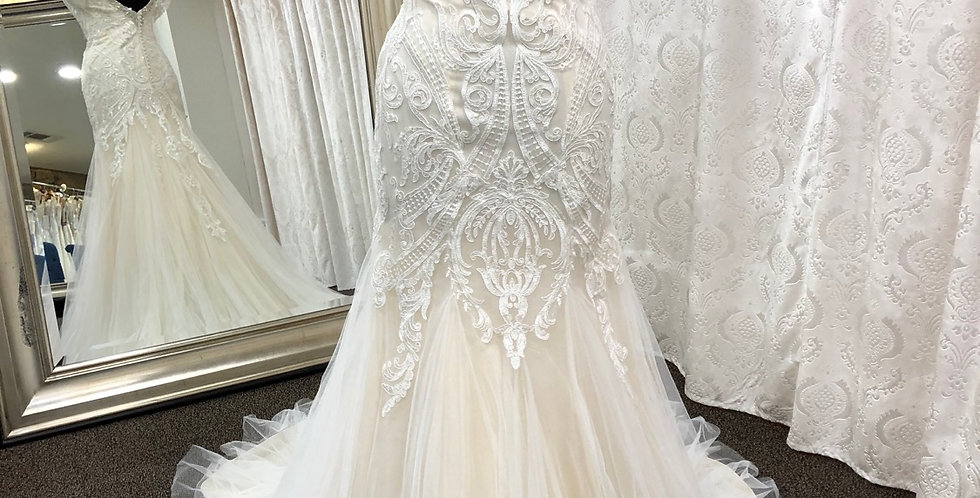 9152, Private Collection 3151 size 12, 18 ivory-blush