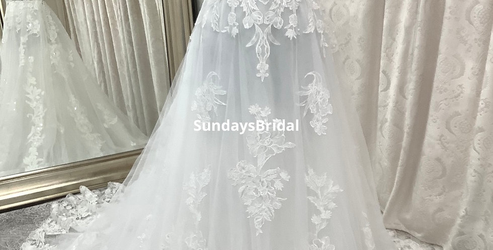 0732, Call for Pricing SundaysBridal 7503 size 10, 16 ivory