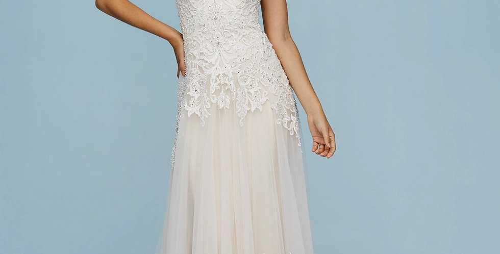 0437, Allure 9611 size 4 ivory -champagne