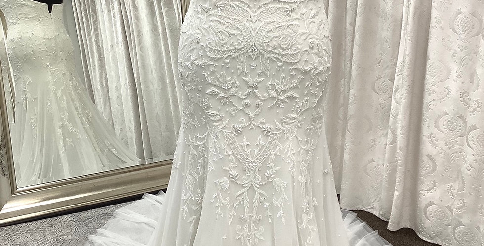 9376, Watters 3048 Faye size 18 off white-oyster