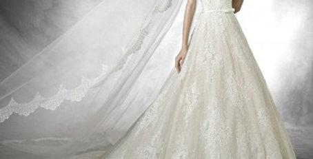 9710, Pronovias Taffi size 12 ivory-champagne
