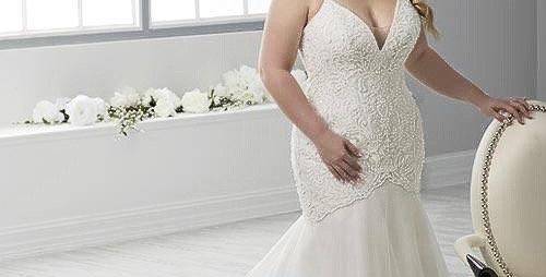 9491, Christina Wu 29313 size 18 white