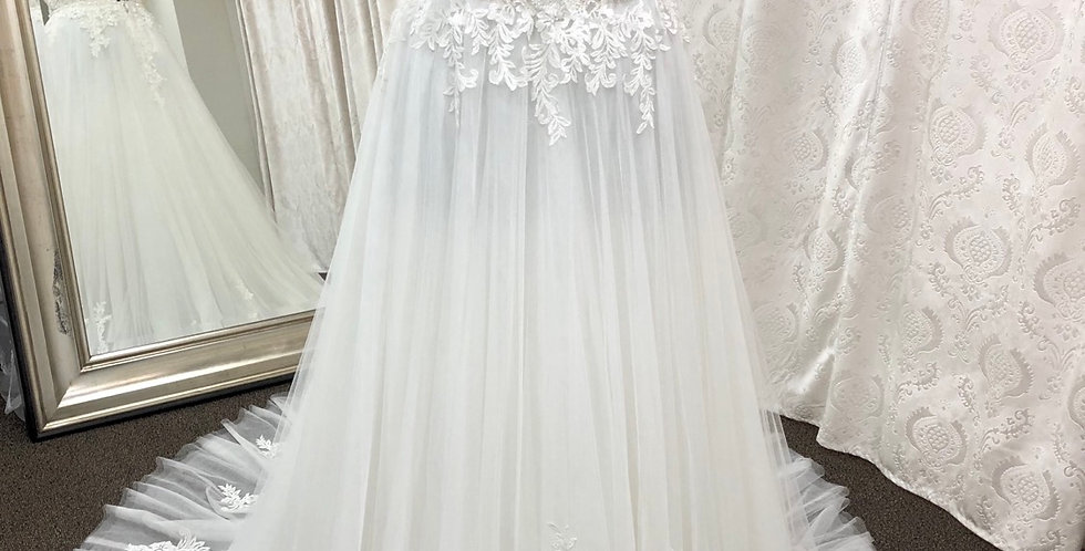 9644, Mary's 2054 size 16 ivory-champagne