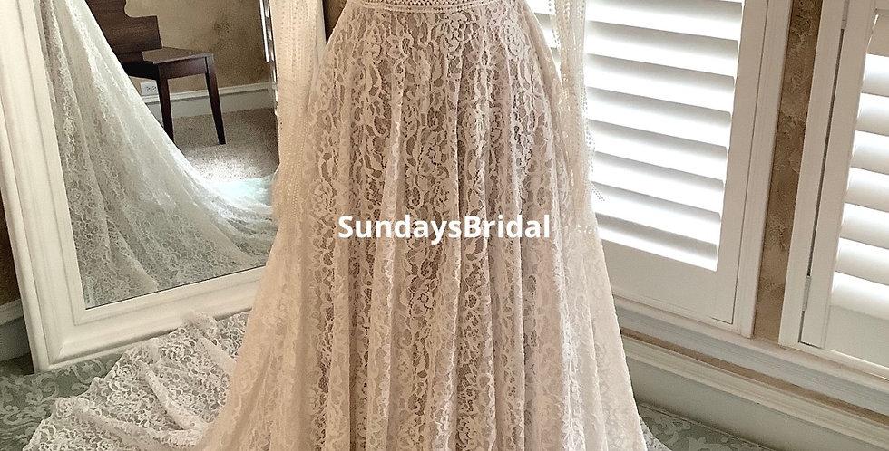 0718, SundaysBridal 97101 size 2 ivory-champagne