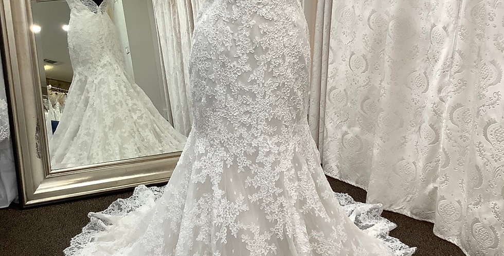 9396, Mori Lee size 8 ivory-oyster