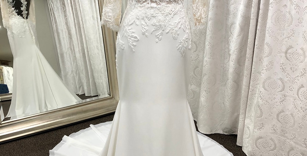 8698, Private Collection w385 size 2 ivory